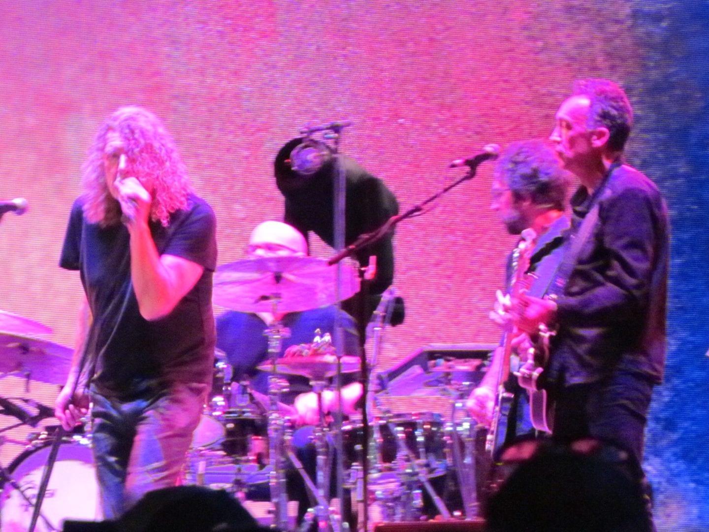 Robert Plant under purple lighting