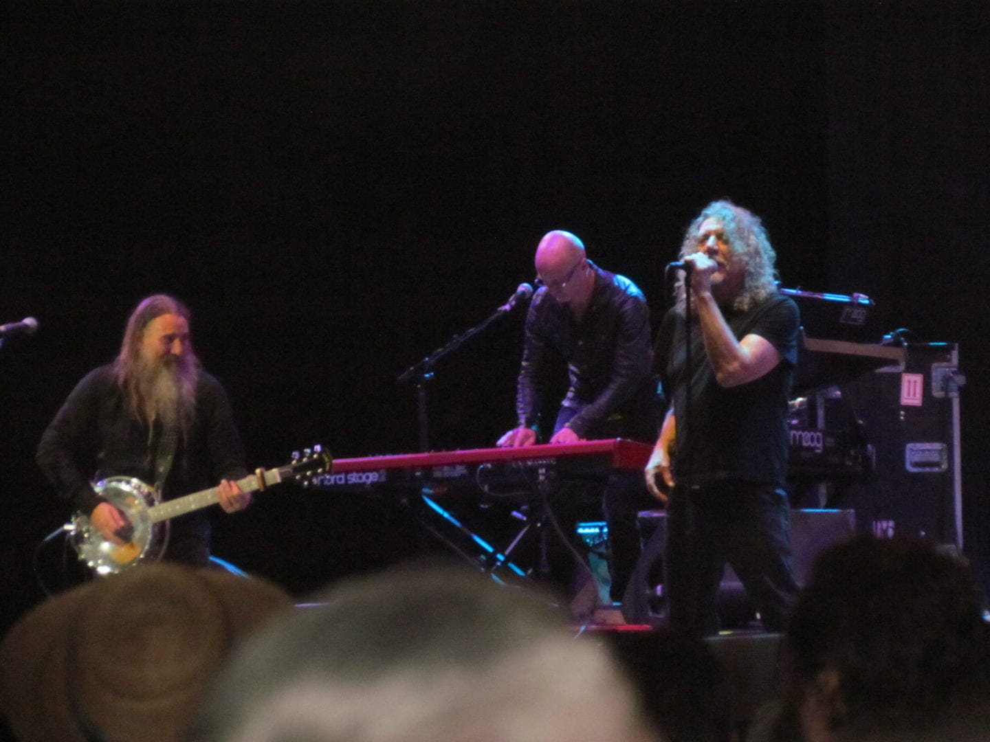 Robert Plant performing with his band