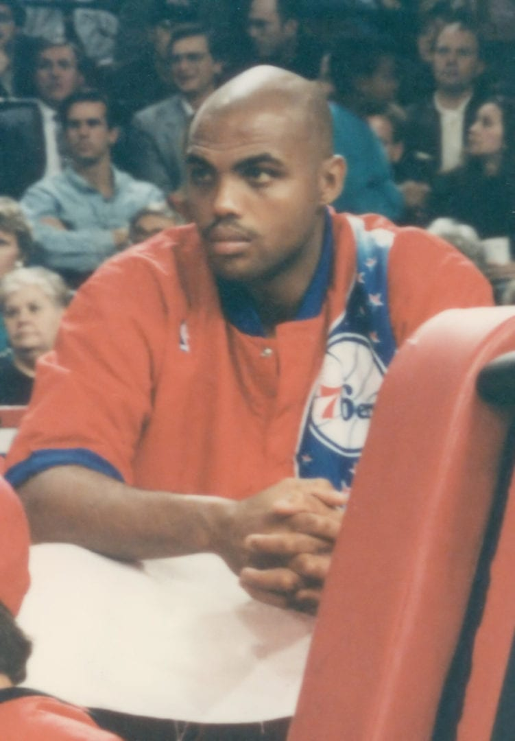An image of Charles Barkley on bench