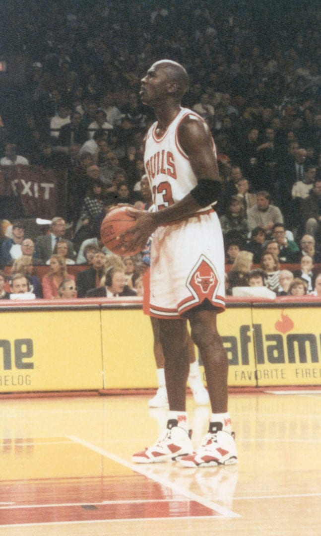 MJ with his free throw