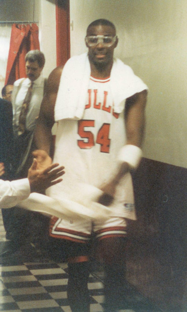 Horace Grant at the back stage