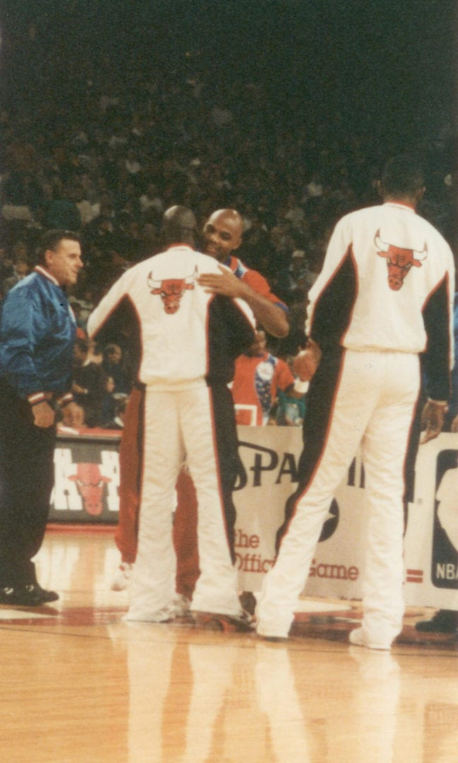 MJ and Charles Barkley before the game