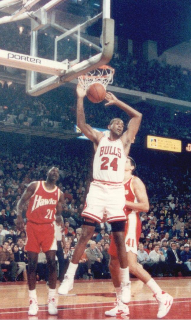 Bill Cartwright doing a dunk
