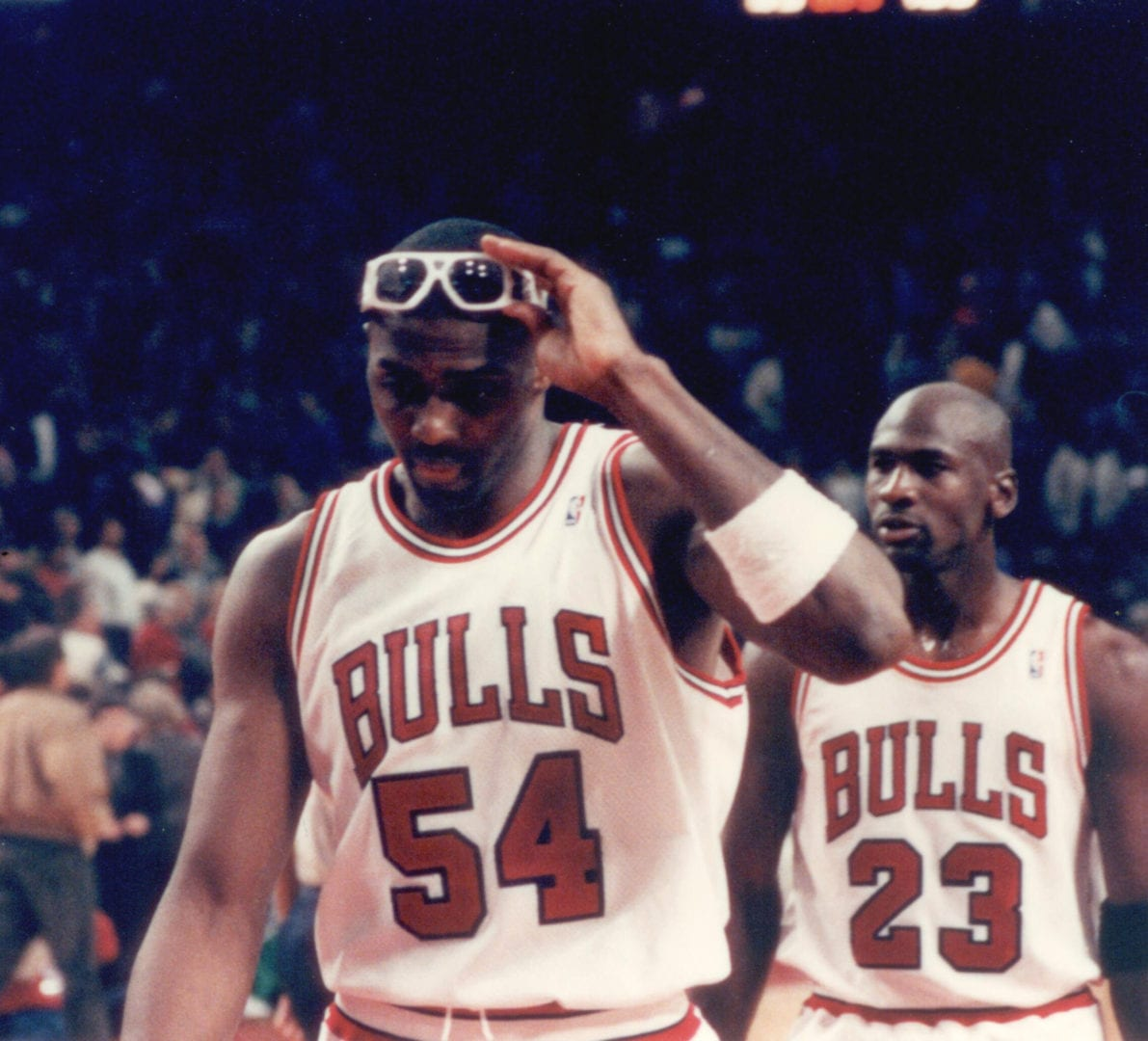Horace Grant and MJ after a game