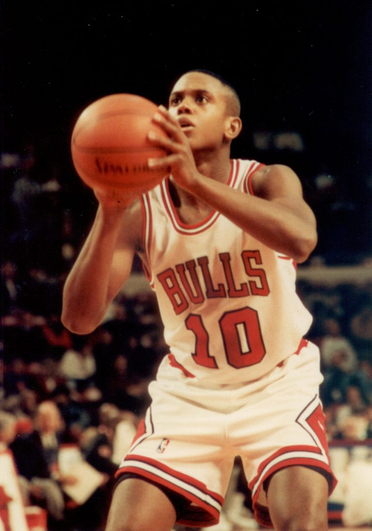 BJ Armstrong doing a free throw