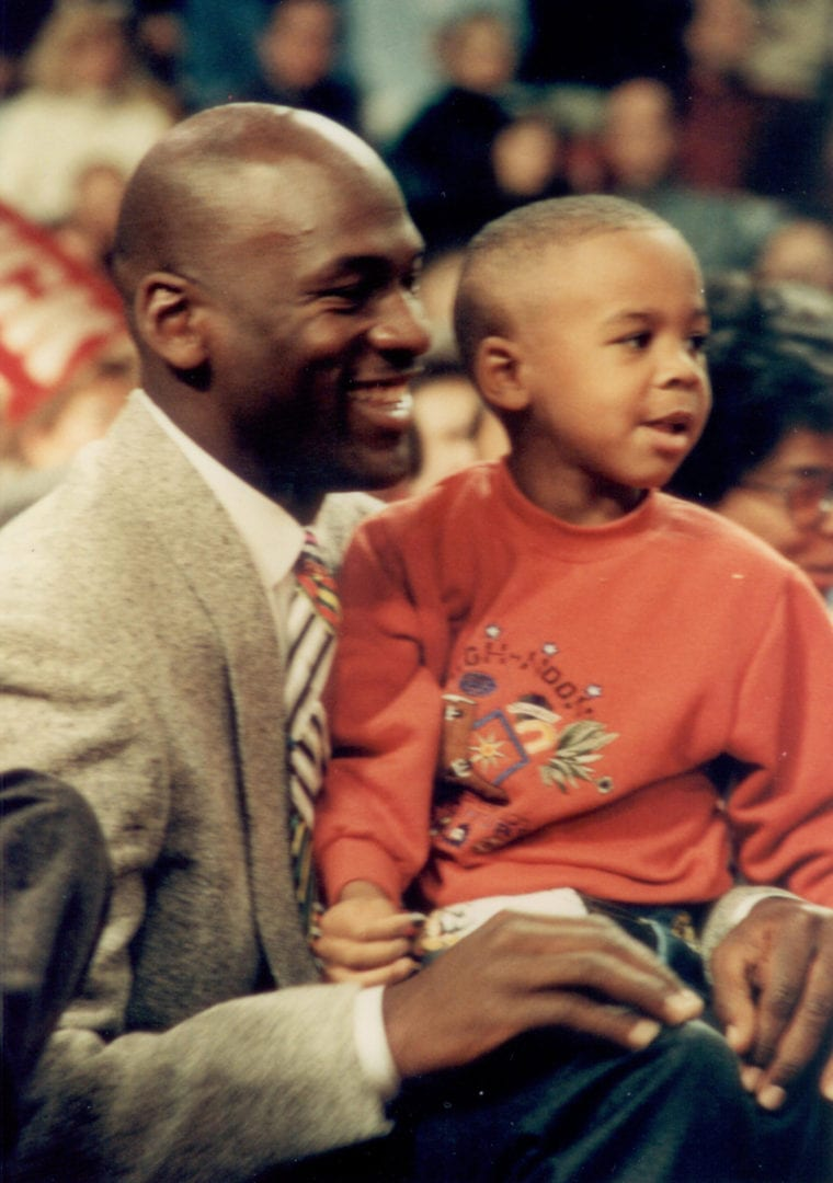 MJ with his son