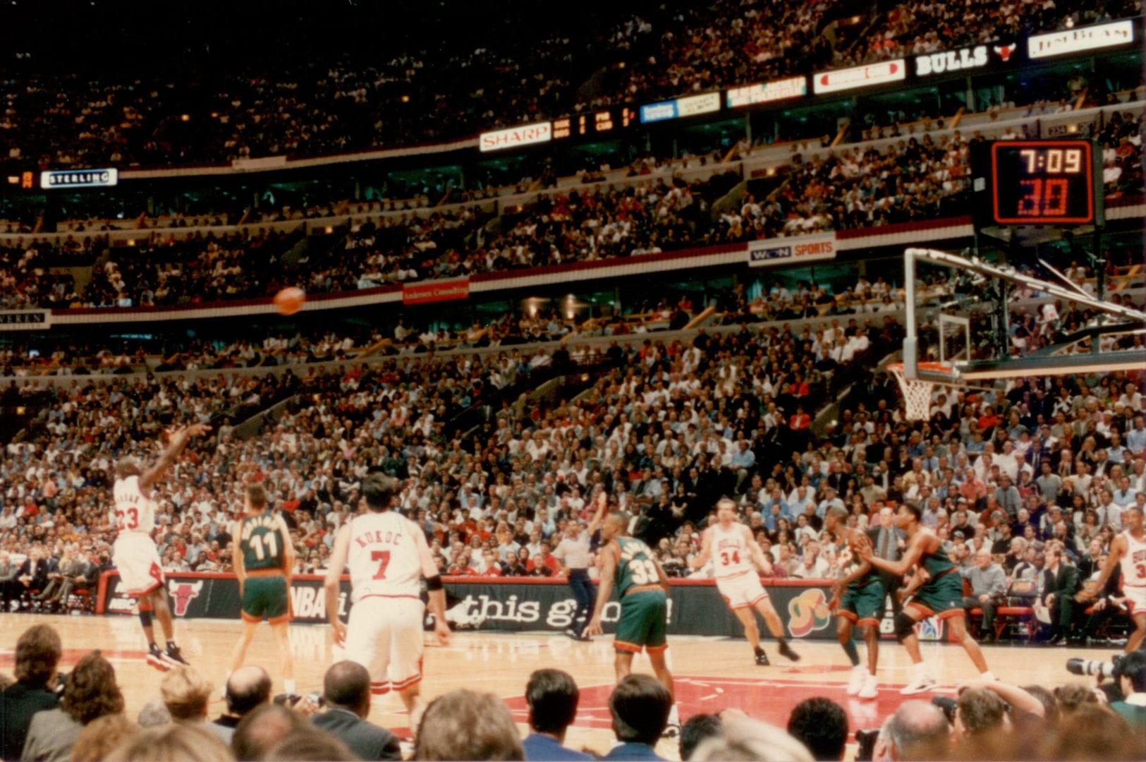 An image of Michael Jordan's jumpshot