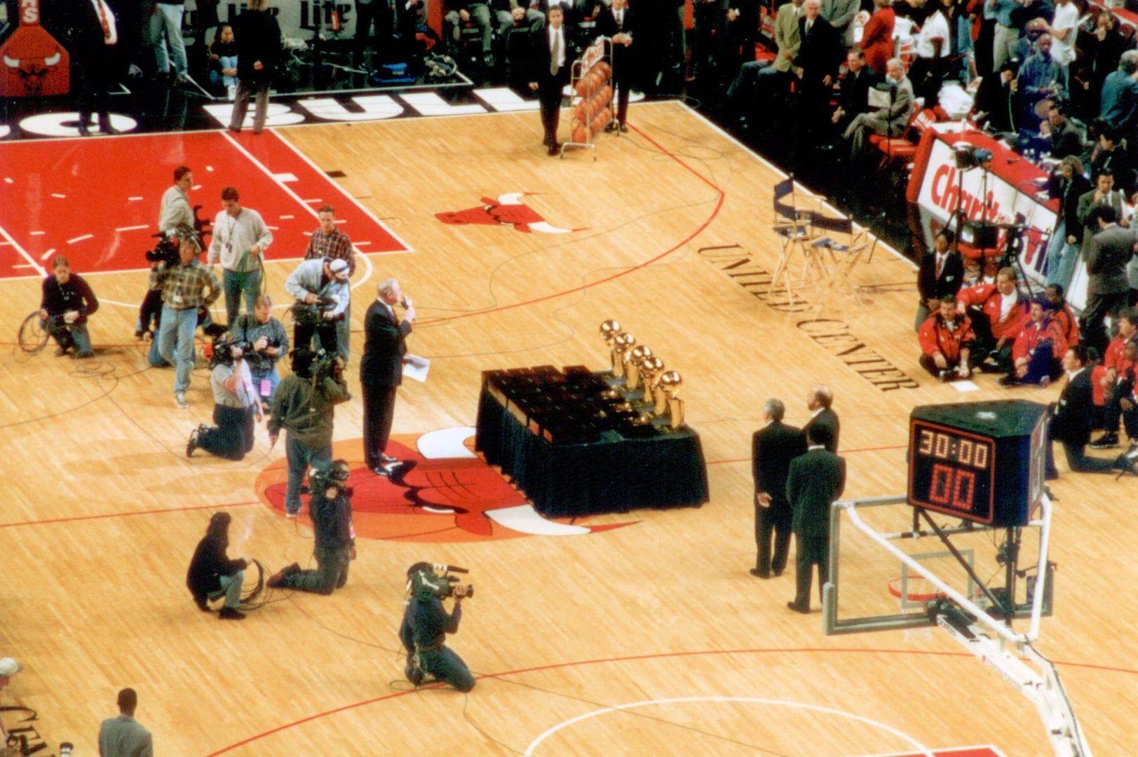 Camera men on the basketball court