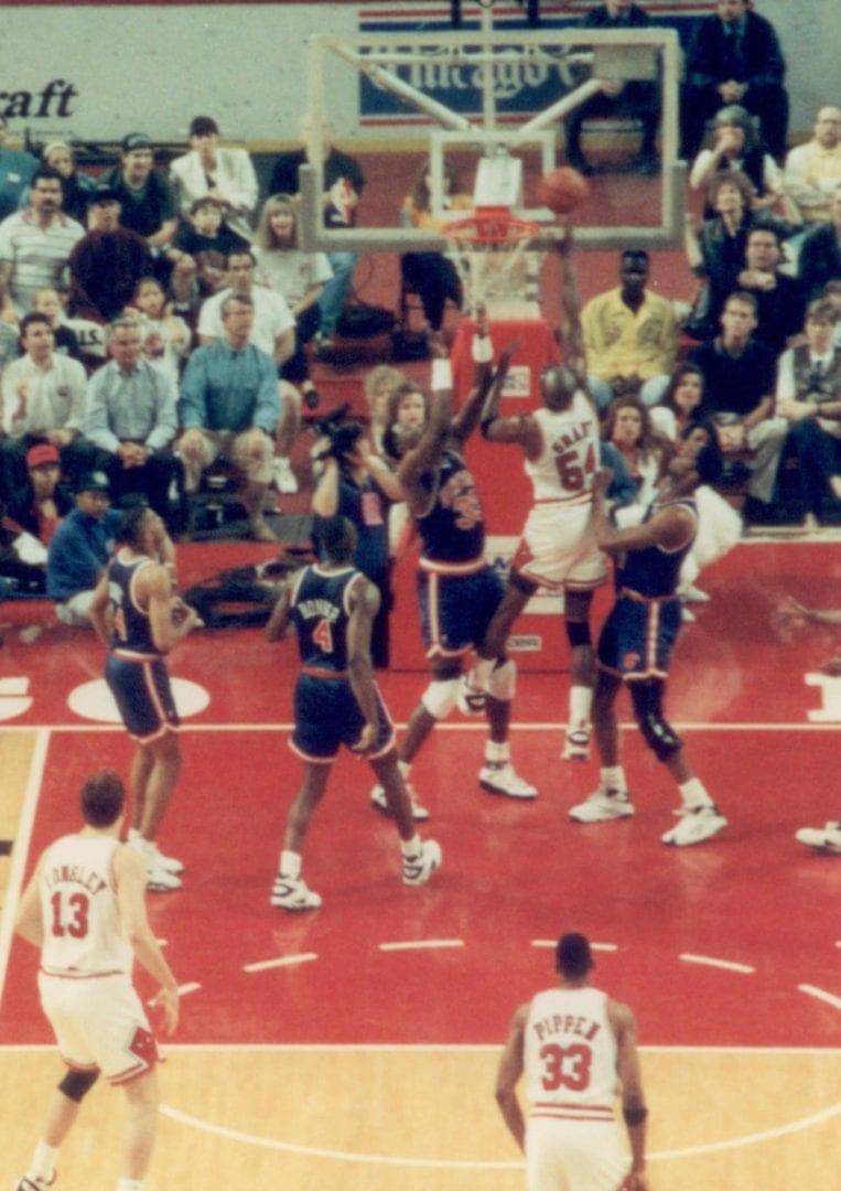 The last regular season game of Chicago Bulls and New York Knicks