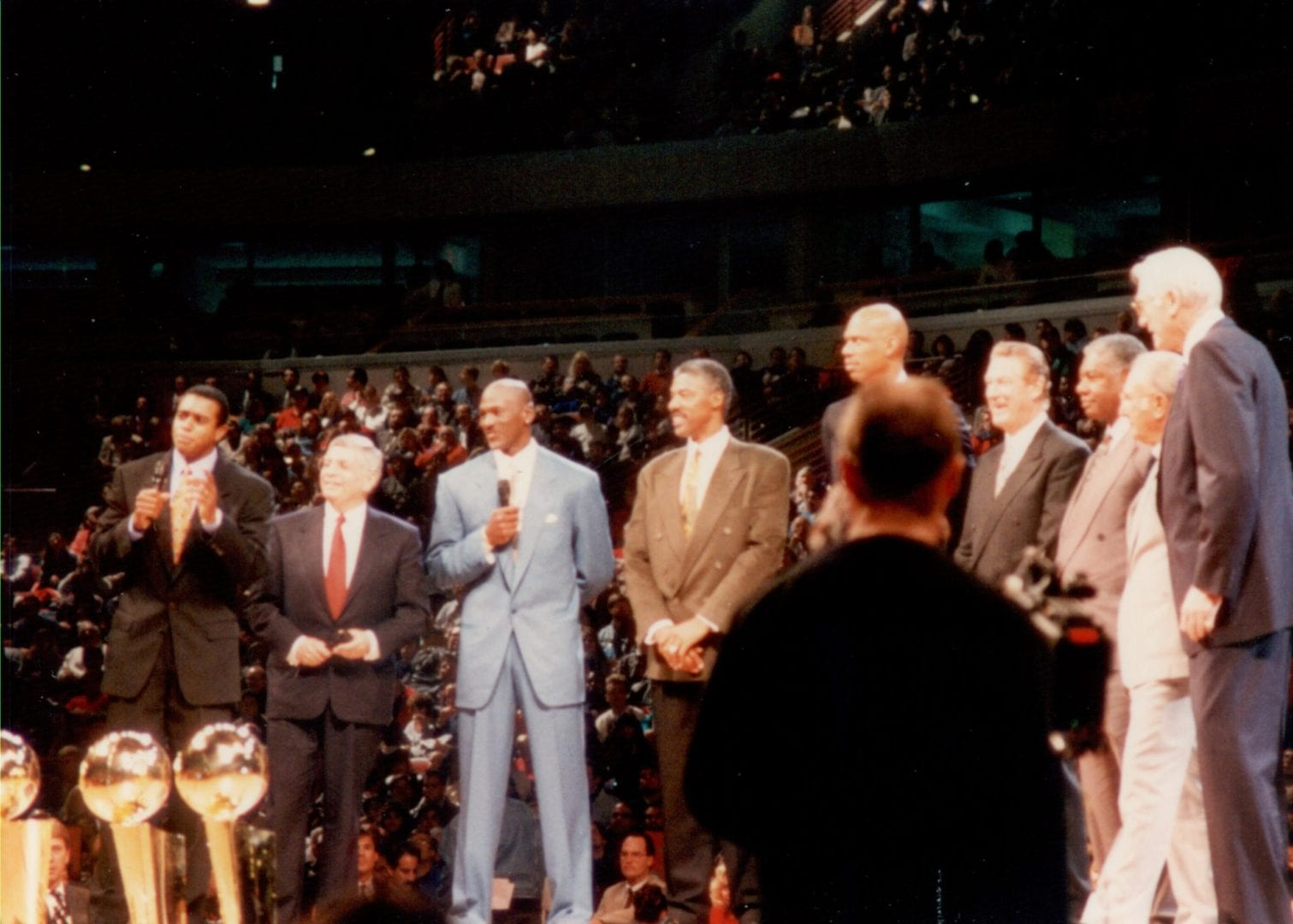 Michael Jordan with NBA commissioners