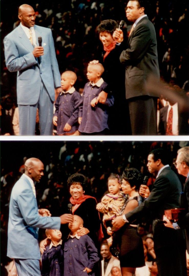 Michael Jordan and his family