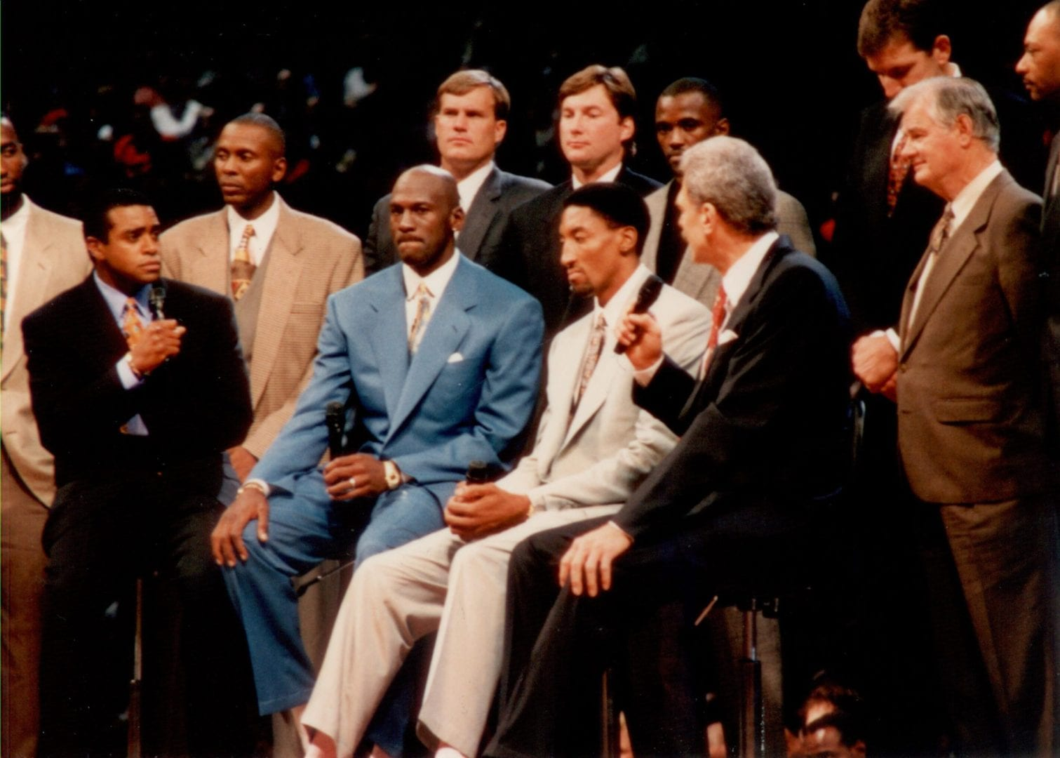 MJ being interviewed for his retirement
