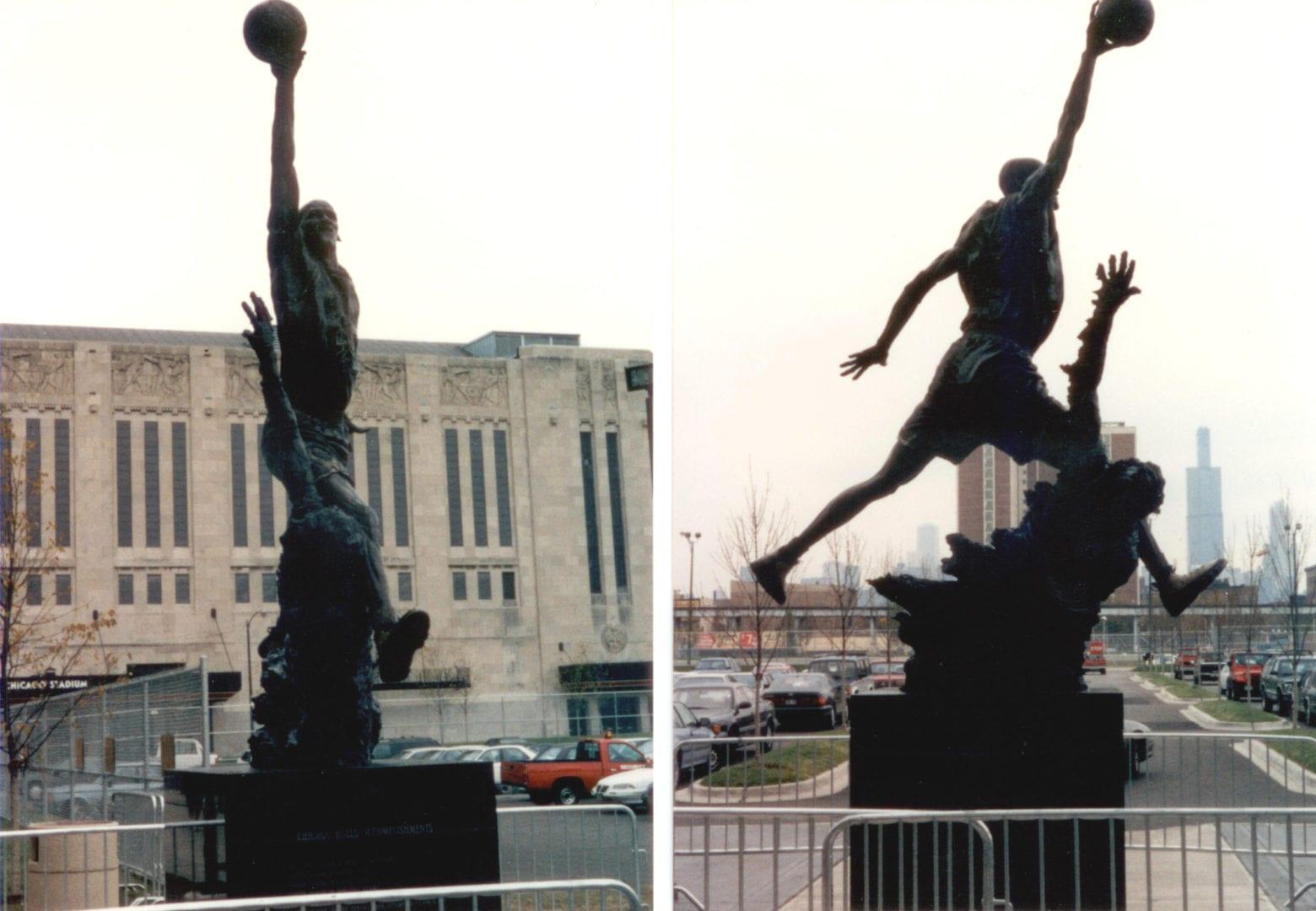 A statue of Michael Jordan
