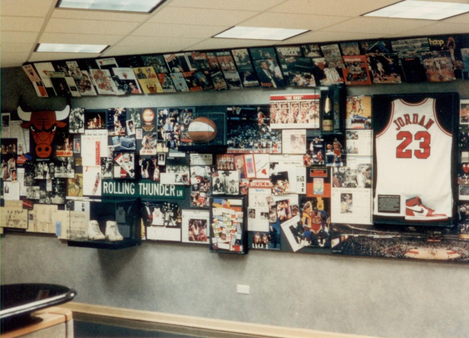 The Chicago Bulls front office lobby
