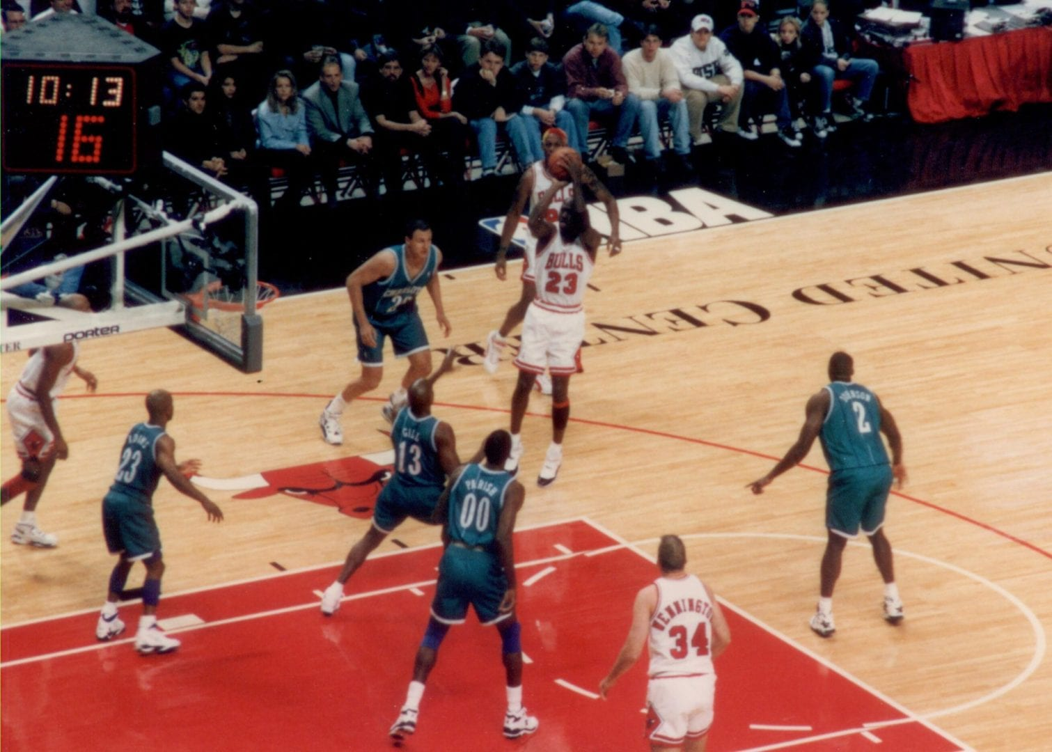 A jump shot made by MJ