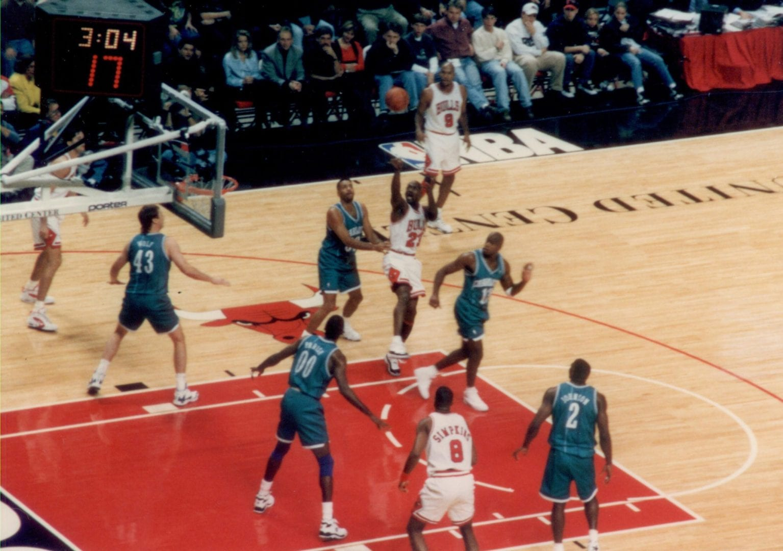 A basketball match for Michael Jordan
