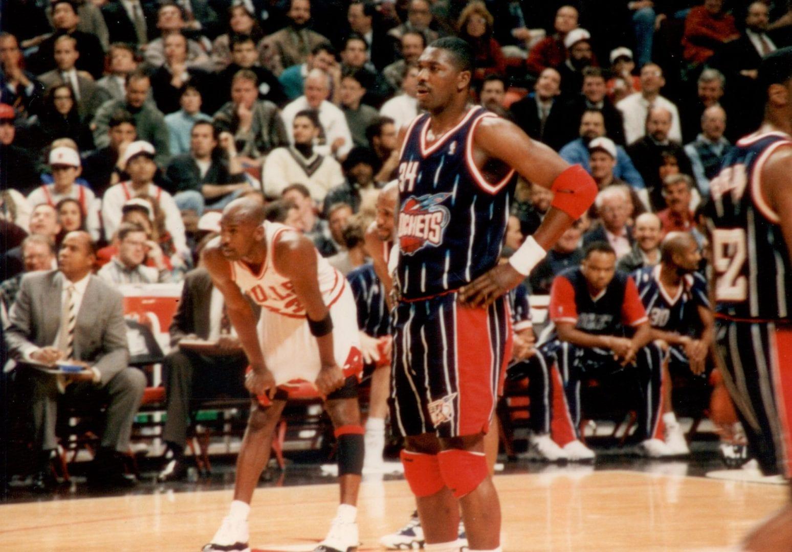Michael Jordan and Hakeem Olajuwon