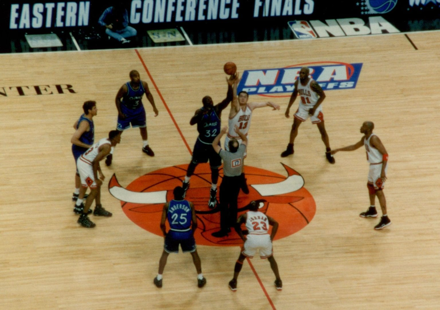Bulls and Magic opening tip off